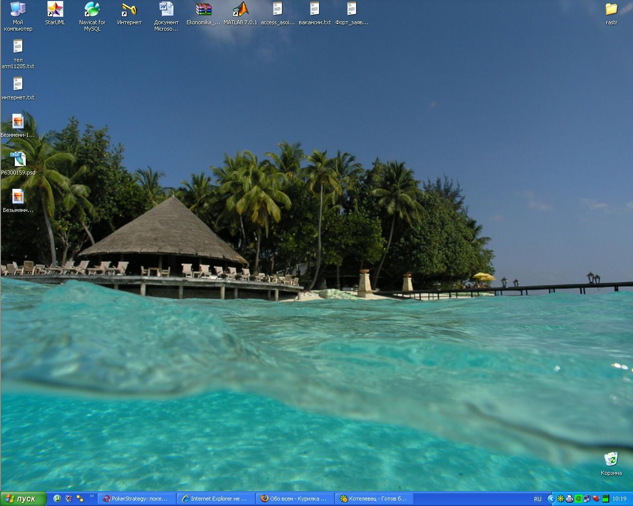 #4009. Favourite.  Море удачи и дачу у моря.  На Острове Свободы это выглядит примерно так.  Aндpей, с днем рождения!